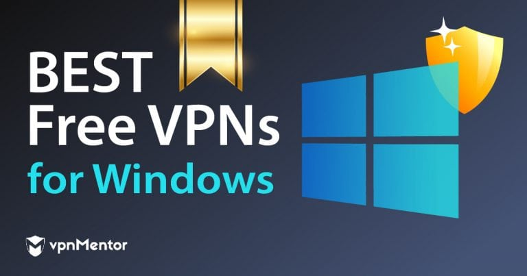 image with the windows logo and text presenting the best VPNs for Windows